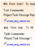 Task comments with alternative colors