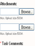 Displaying max.Upload size